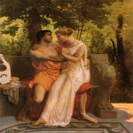 William Bouguereau (1825-1905)  L'idylle [The Idyll]  Oil on canvas, 1850  29 x 23 5/8 inches (73.7 x 60.3 cm)  Private collection